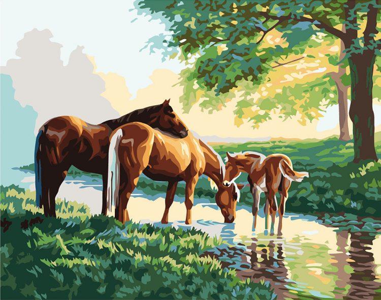 Картина с конями
