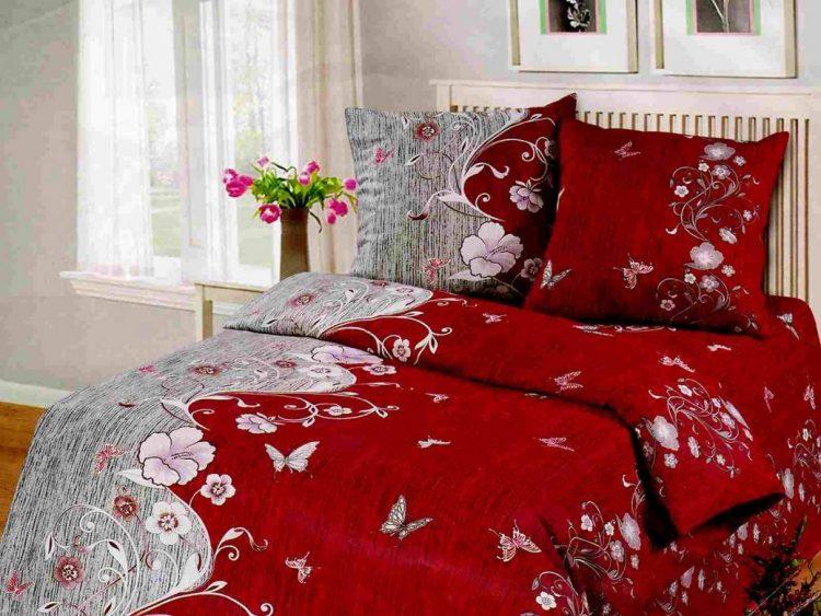 Красное постельное