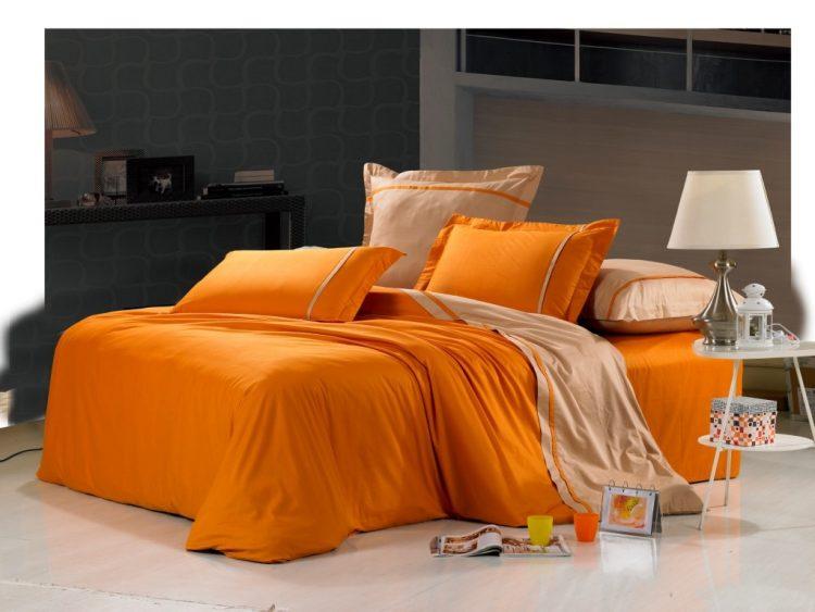 Оранжевое постельное