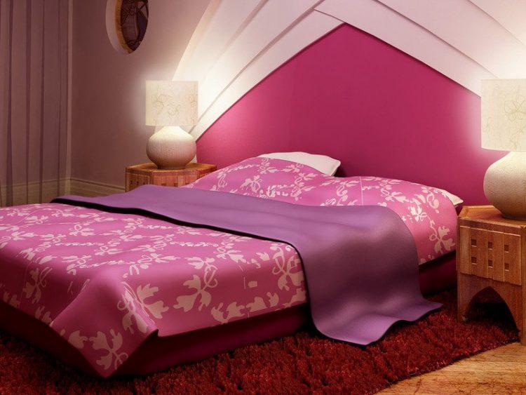 Розовое постельное