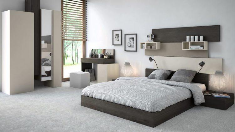 Светло-черная кровать