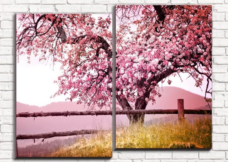 Картина персиковое дерево