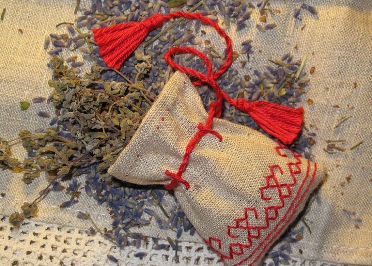Травы в мешочке